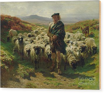 The Highland Shepherd Wood Print by Rosa Bonheur