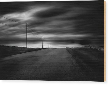 Wood Print featuring the photograph The Highway by Dan Jurak