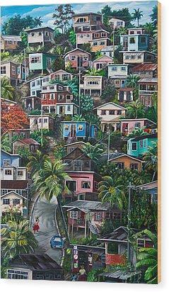 The Hill     Trinidad  Wood Print by Karin  Dawn Kelshall- Best