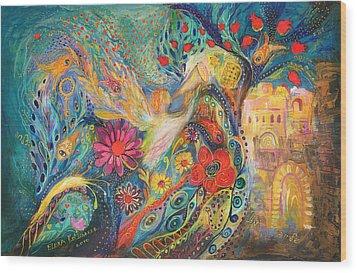 The Hills Of Jaffo Wood Print by Elena Kotliarker
