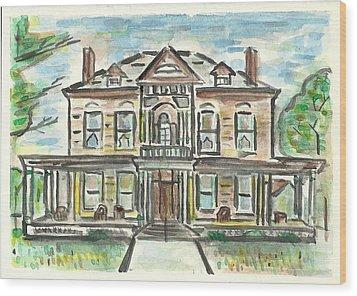 The Historic Dayton House Wood Print by Matt Gaudian