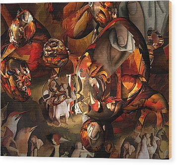 The History Or Art Wood Print by Peter Ciccariello