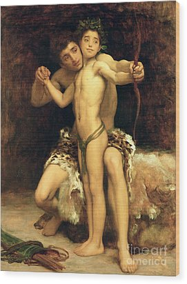 The Hit Wood Print by Frederic Leighton