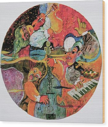 The Holland Jazz Trio Wood Print