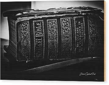 The Holy Bible Wood Print