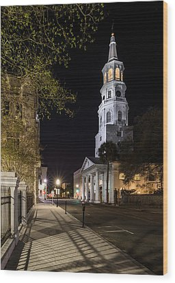 Wood Print featuring the photograph St. Michael's Episcopal Church by Carl Amoth