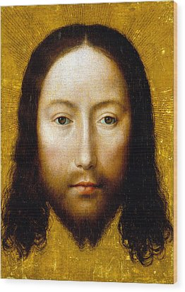 The Holy Face Wood Print by Flemish School