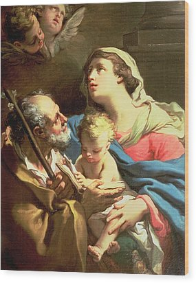 The Holy Family Wood Print by Gaetano Gandolfi