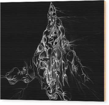 The Holy Mountain Inverted Wood Print by Bodhi