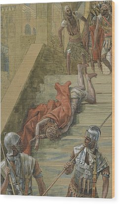 The Holy Stair Wood Print by Tissot
