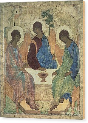 The Holy Trinity Wood Print by Andrei Rublev