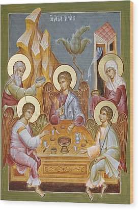 The Holy Trinity Wood Print by Julia Bridget Hayes