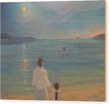 Wood Print featuring the painting The Homecoming by Donna Tucker