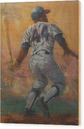 The Homerun King Wood Print by Tom Forgione