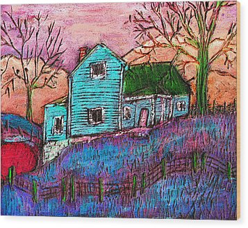The Homestead I Wood Print