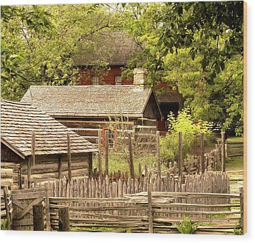 The Homestead Wood Print by Ian  MacDonald