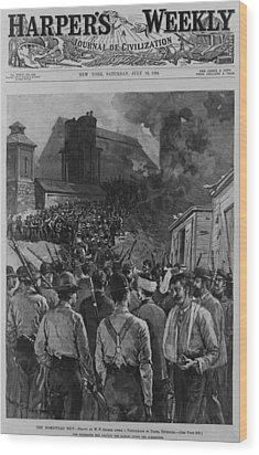 The Homestead Steel Strike Riot Wood Print by Everett