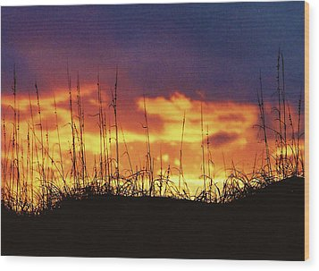 The Horizon Is Burning Wood Print