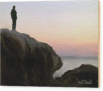 Wood Print featuring the painting The Horizon by Wayne Pascall