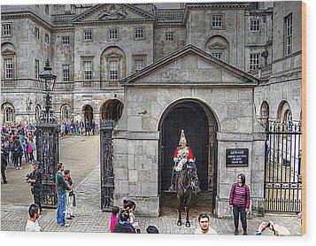 The Horse Guard At Whitehall Wood Print by Karen McKenzie McAdoo