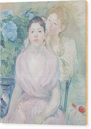 The Hortensia Wood Print by Berthe Morisot