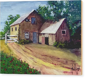 The House Barn Wood Print by Jim Phillips