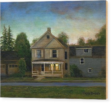 The House Next Door Wood Print by Wayne Daniels