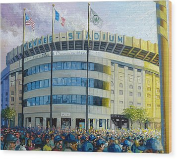 The House That Steinbrenner Wrecked Opening Day  Wood Print by Gregg Hinlicky