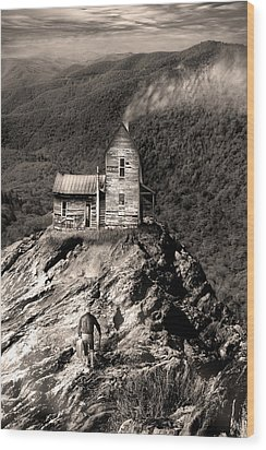 The House Time Forgot Wood Print by Gray  Artus