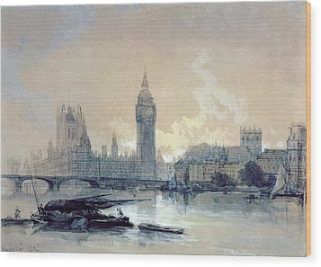 The Houses Of Parliament Wood Print by David Roberts