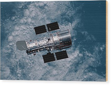 The Hubble Space Telescope Wood Print by Nasa
