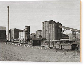 The Huber Colliery Ashley Pennsylvania 1953 Wood Print