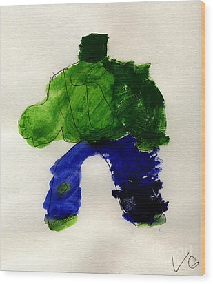 The Hulk Wood Print by Vincent Gitto
