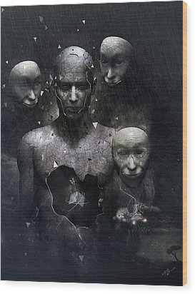 The Human In Me Wood Print by Cameron Gray