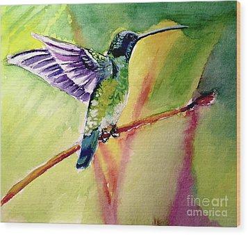 The Hummingbird Wood Print