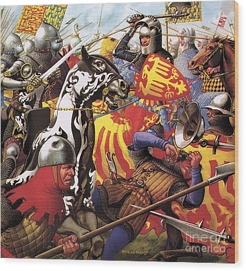 The Hundred Years War  The Struggle For A Crown Wood Print by Pat Nicolle