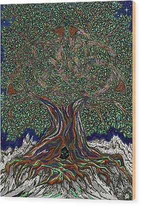 The Hunter's Lair Wood Print by FT McKinstry