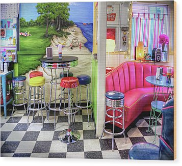 The Ice Cream Shoppe In Duval, Wa Wood Print by Greg Sigrist