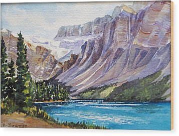 Along-the-icefield-parkway Wood Print by Nancy Newman