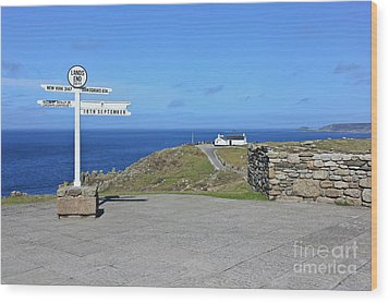 The Iconic Lands End Wood Print by Terri Waters