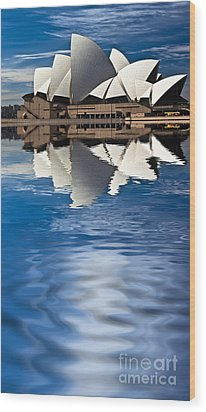 The Iconic Sydney Opera House Wood Print by Avalon Fine Art Photography