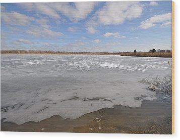 The Icy Lake Wood Print