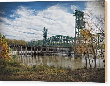 The Illinois River Wood Print