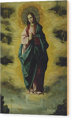 The Immaculate Conception Wood Print by Francisco de Zurbaran