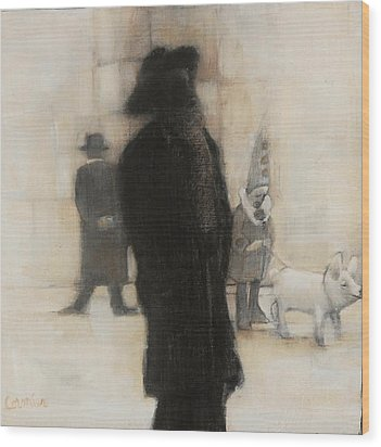 The Incongruity Of It All  Wood Print by Jean Cormier