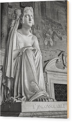 The Inconsolable Statue At Pisa Wood Print