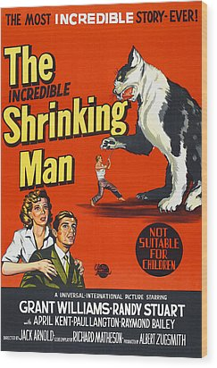 The Incredible Shrinking Man, Bottom Wood Print by Everett