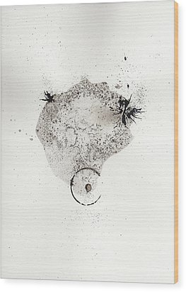 The Inexplicable Ignition Of Time Expanding Into Free Space Phase One Number 17 Wood Print by Mark M  Mellon