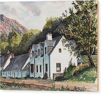 The Inn Scotland Wood Print