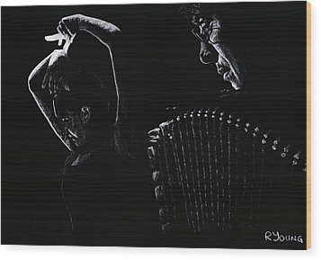 The Intensity Of Flamenco Wood Print by Richard Young